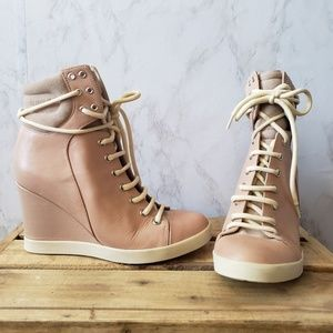 See By Chloe Shoes - See By Chloe Lace Up Wedge Sneakers